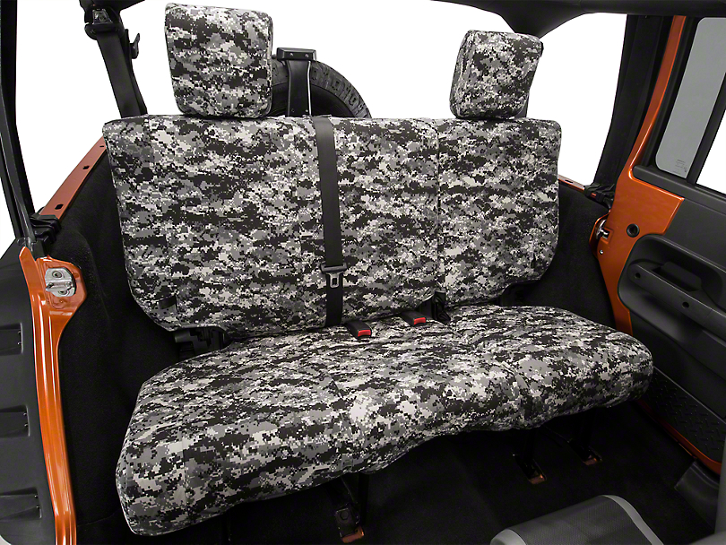 Caltrend Urban Camouflage Rear Seat Cover - Reclining 40/60 Split Bench (07-10 Jeep Wrangler JK 4 Door)