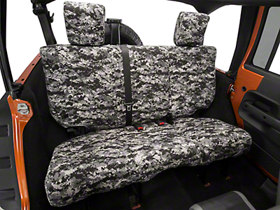 Caltrend Urban Camouflage Rear Seat Cover - Reclining 40/60 Split Bench (07-10 Wrangler JK 4 Door)
