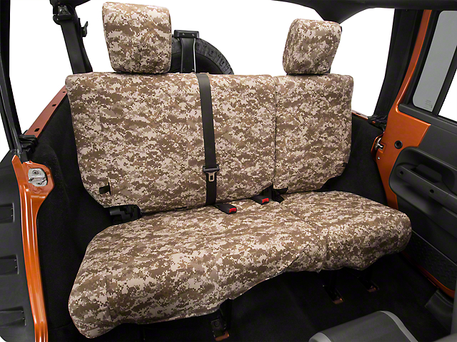 Caltrend Desert Camouflage Rear Seat Cover - Non-Reclining 40/60 Split Bench (07-10 Wrangler JK 4 Door)