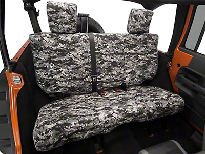 Caltrend Urban Camouflage Rear Seat Cover - Non-Reclining 40/60 Split Bench (07-10 Wrangler JK 4 Door)