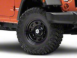 Mammoth D Window Black Steel Wheel; 17x9 (07-18 Jeep Wrangler JK)