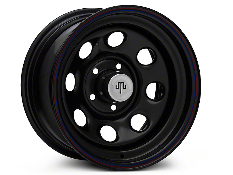 Mammoth 8 Black Wagon Wheel Edition Steel Wheel - 15x8 (87-95 Jeep Wrangler YJ)