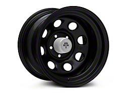 Mammoth 8 Black Wagon Wheel Edition Steel Wheel; 15x10 (87-95 Jeep Wrangler YJ)