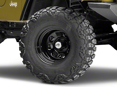 Mammoth 8 Black Wagon Wheel Edition Steel Wheel - 15x10 (87-06 Jeep Wrangler YJ & TJ)