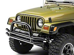 Smittybilt Tubular Front Bumper w/ Hoop - Gloss Black (87-06 Jeep Wrangler YJ & TJ)