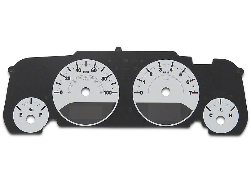 US Speedo Daytona Edition Gauge Face; White / Blue Night (07-18 Jeep Wrangler JK)