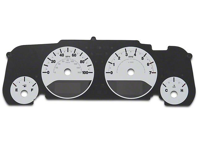 US Speedo Daytona Gauge Face Kit - White / Blue Night (07-18 Wrangler JK)