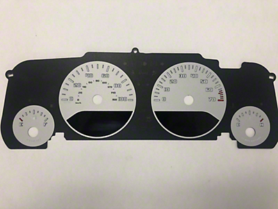US Speedo Daytona Gauge Face Kit - Silver / Blue Night (07-18 Jeep Wrangler JK)
