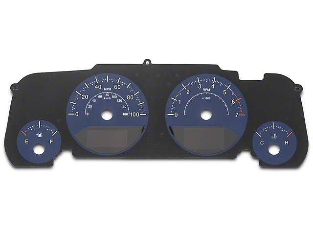 US Speedo Daytona Edition Gauge Face; Blue / Blue Night (07-18 Jeep Wrangler JK)