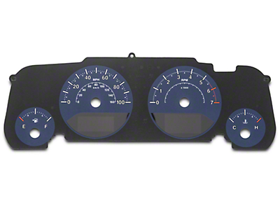 US Speedo Daytona Gauge Face Kit - Blue / Blue Night (07-18 Jeep Wrangler JK)
