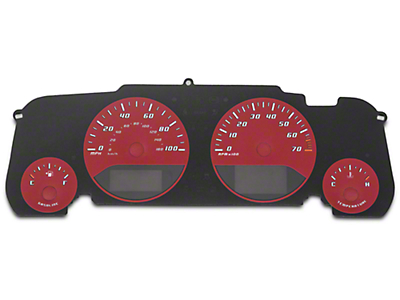 US Speedo Daytona Gauge Face Kit - Red / Blue Night (07-18 Wrangler JK)