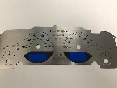 US Speedo Stainless Steel Gauge Face Kit - Blue (07-18 Wrangler JK)