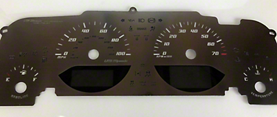US Speedo Stainless Steel Stealth Gauge Face Kit (07-18 Wrangler JK)