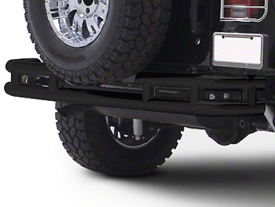 Smittybilt Tubular Rear Bumper w/o Hitch - Gloss Black (87-06 Jeep Wrangler YJ & TJ)