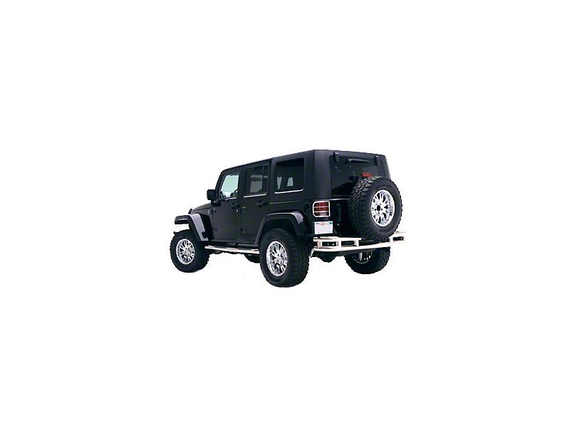 Smittybilt Tubular Rear Bumper w/o Hitch - Stainless Steel (07-18 Jeep Wrangler JK)