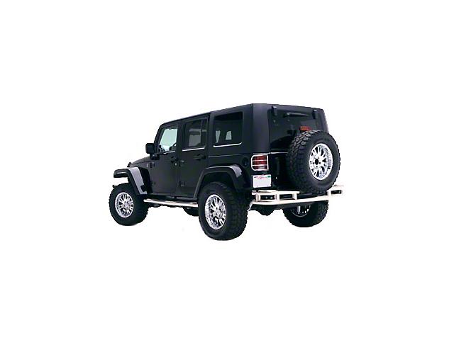 Smittybilt Tubular Rear Bumper without Hitch; Stainless Steel (07-18 Jeep Wrangler JK)