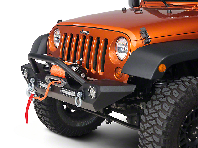Jeep Wrangler Jk Front Bumper >> Barricade Jeep Wrangler Trail Force Hd Front Bumper W Led Lights