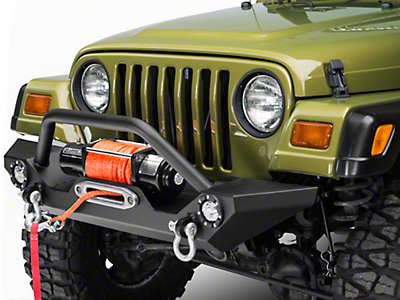 Barricade Trail Force HD Front Bumper w/ LED Lights (87-06 Jeep Wrangler YJ & TJ)
