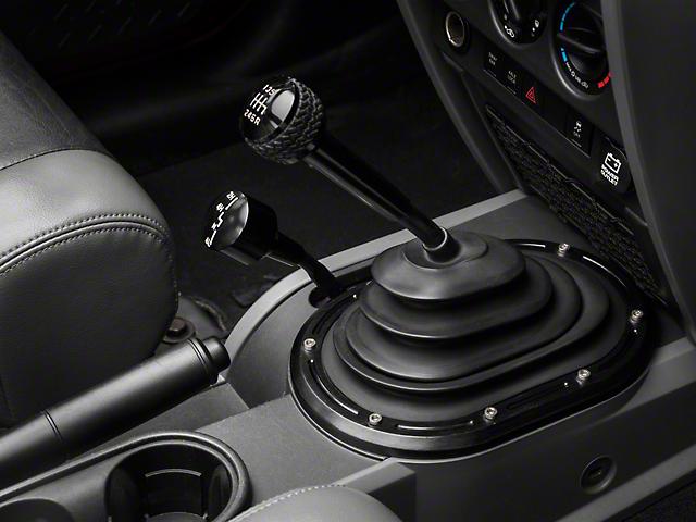 Rugged Ridge Billet Aluminum Transfer Case Shifter Knob - Black Anodized (07-10 Jeep Wrangler JK)
