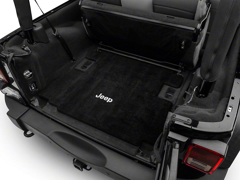 Lloyd Ultimat Black Cargo Mat - Jeep Logo (07-10 Jeep Wrangler JK 2 Door)