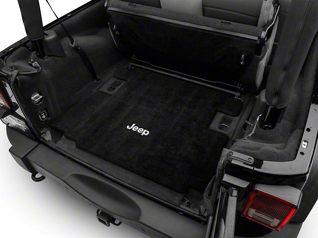 Lloyd Ultimat Cargo Mat with Jeep Logo; Black (07-10 Jeep Wrangler JK 2 Door)