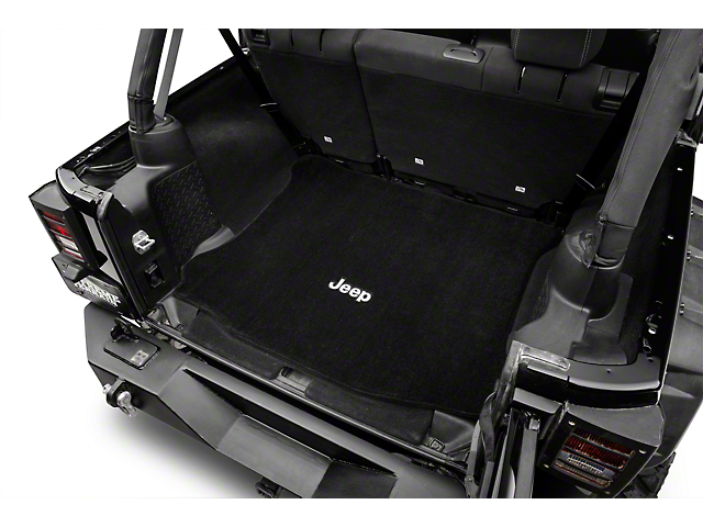 Lloyd Ultimat Black Cargo Mat - Jeep Logo (11-18 Wrangler JK 4 Door)