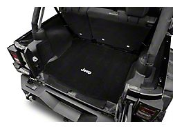 Lloyd Cargo Mat w/ Jeep Logo - Black - w/ Subwoofer (15-18 Jeep Wrangler JK 4 Door)