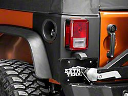 Rugged Ridge Rear Corner Body Armor - Matte Black (07-18 Jeep Wrangler JK 2 Door)