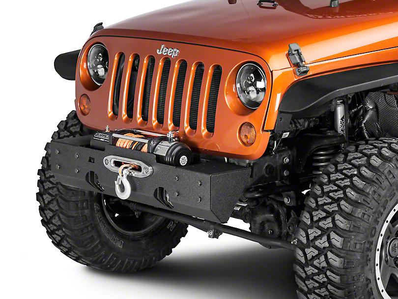 Rugged Ridge XHD Modular Winch Mount Front Bumper Base (07-18 Jeep Wrangler JK)