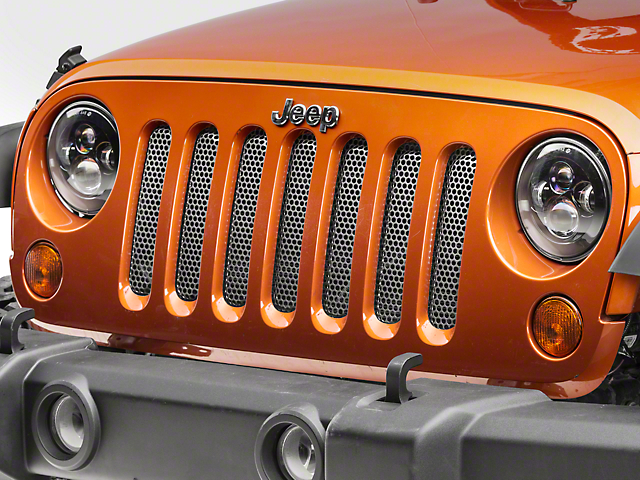 Rugged Ridge Perforated Stainless Grille Insert - Satin (07-18 Jeep Wrangler JK)
