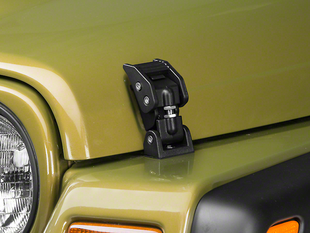 Rugged Ridge Hood Catches - Textured Black (97-06 Jeep Wrangler TJ)