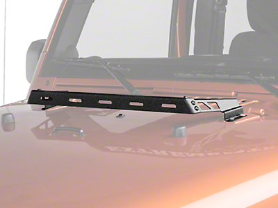Rugged Ridge Hood Mounted Light Bar - Textured Black (07-18 Jeep Wrangler JK)