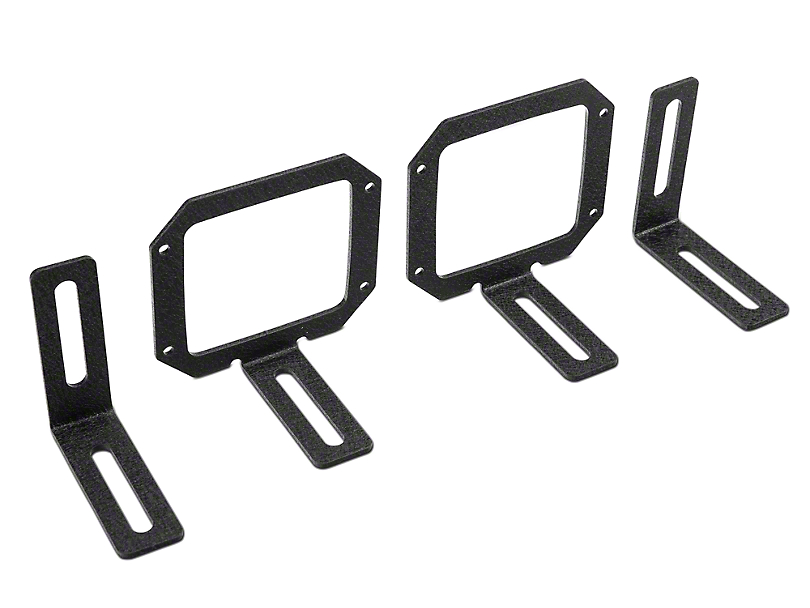 Rugged Ridge Fog Light Mounting Brackets for 3 in. Square LED Lights (07-18 Jeep Wrangler JK)