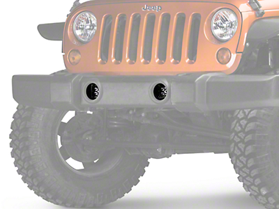Rugged Ridge 3 in. Square LED Lights w/ Fog Light Mounting Brackets (07-18 Jeep Wrangler JK)