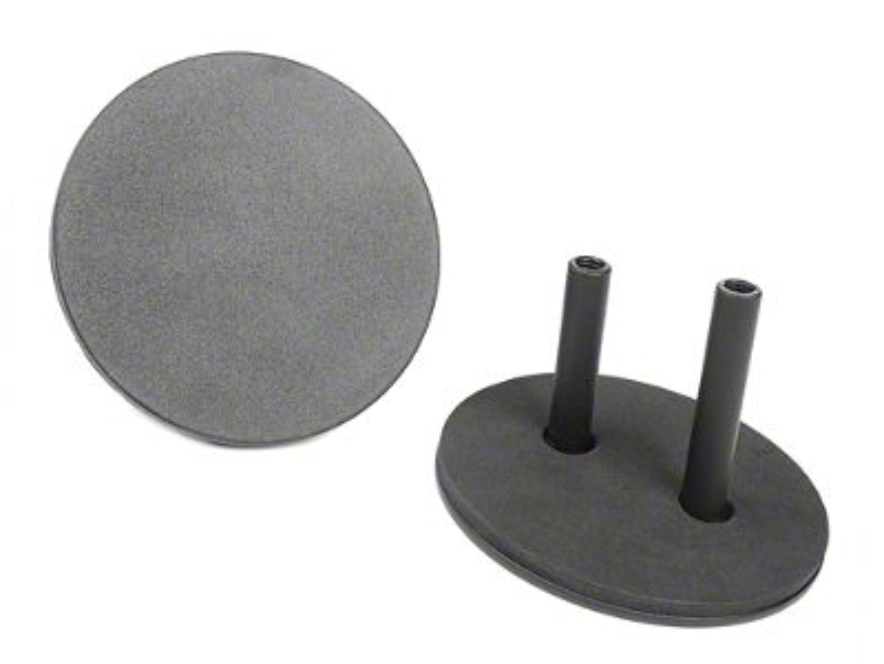 Rugged Ridge Mirror Relocation Filler Plates - Textured Black (07-18 Jeep Wrangler JK)