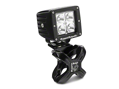 Rugged Ridge Black X-Clamp for 1.25-2 in. Tubing & 3 in. Square LED Light Kit