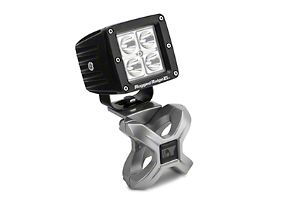 Rugged Ridge Silver X-Clamp for 1.25-2 in. Tubing & 3 in. Square LED Light Kit