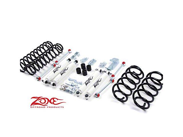 Zone Offroad 3 Inch Lift Kit w/ Shocks (97-06 Jeep Wrangler TJ)