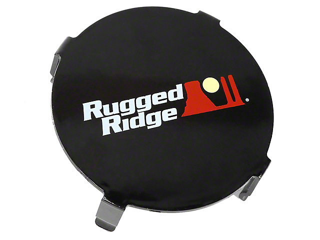 Rugged Ridge 3.50-Inch LED Light Cover; Black