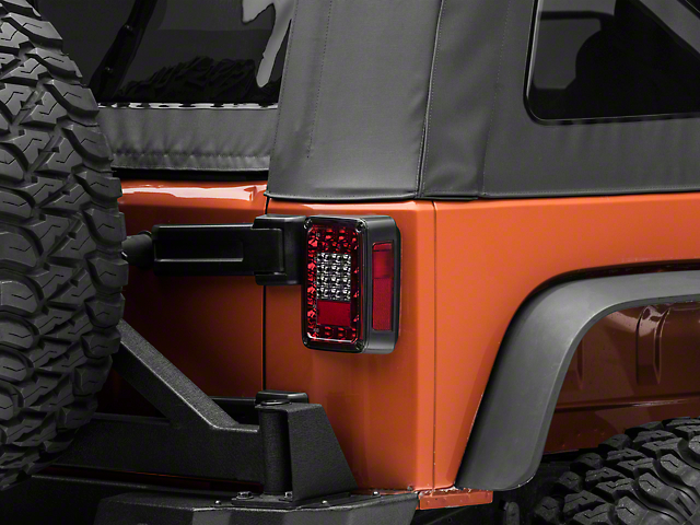Rugged Ridge LED Tail Lights; Smoked (07-18 Jeep Wrangler JK)