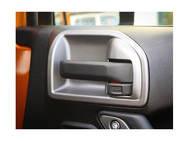 Rugged Ridge Silver Door Latch Trim (11-18 Jeep Wrangler JK)