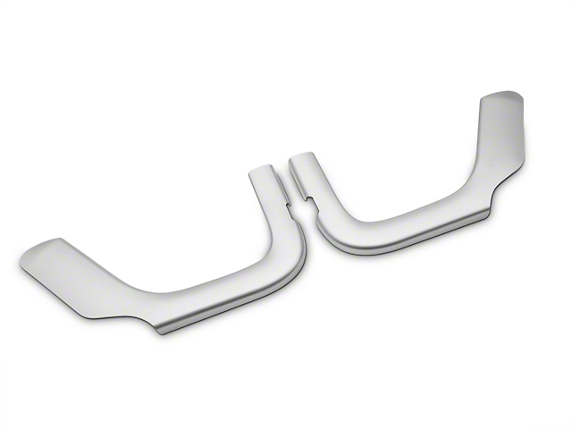 Rugged Ridge Front Row Door Net Trim - Brushed Silver (11-18 Jeep Wrangler JK)