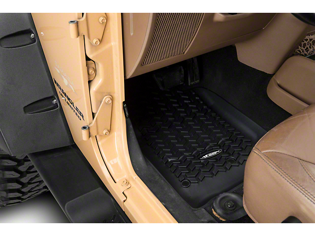 Rugged Ridge All-Terrain Front, Rear and Cargo Floor Mats; Black (07-10 Jeep Wrangler JK 4 Door)