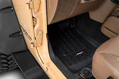 Rugged Ridge All Terrain Front, Rear & Cargo Floor Liners - Black (07-10 Wrangler JK 4 Door)