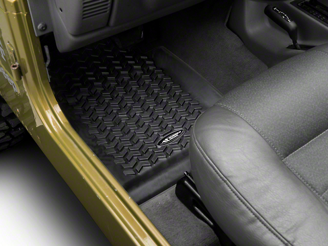 Rugged Ridge All-Terrain Front, Rear and Cargo Floor Mats; Black (97-06 Jeep Wrangler TJ)