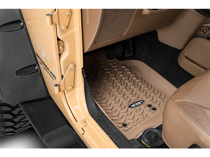 Rugged Ridge All-Terrain Front, Rear & Cargo Floor Mats - Tan (07-10 Jeep Wrangler JK 4 Door)