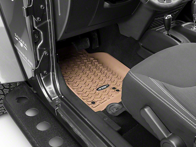 Rugged Ridge All-Terrain Front, Rear and Cargo Floor Mats; Tan (11-18 Jeep Wrangler JK 4 Door)