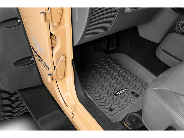 Rugged Ridge All-Terrain Front, Rear & Cargo Floor Mats - Gray (07-10 Jeep Wrangler JK 4 Door)