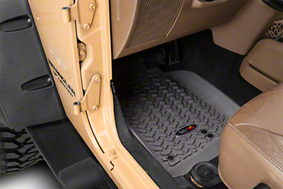 Rugged Ridge All Terrain Front, Rear & Cargo Floor Liners - Gray (11-18 Wrangler JK 4 Door)