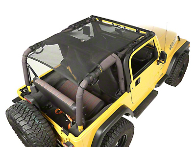Rugged Ridge Full Cover Eclipse Sun Shade - Black (97-06 Wrangler TJ)